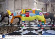 Egyptian Donkeys at St Paul's Cathedral, London, Britain - 30 Aug 2013