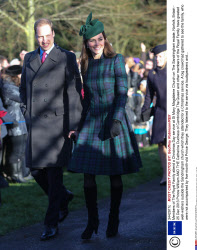 Members of The Royal Family attend a Christmas Day service at St Mary Magdalene Church on The Sandringham estate, Norfolk, Britain - 25 Dec 2013