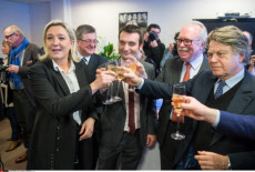 Nanterre, Marine Le Pen addressing her new year wishes
