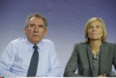PARIS: Bayrou and Borloo attend the third Congress of the Modem.
