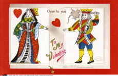 Valentines card with king and queen