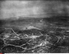 Aerial photograph of area around Fort Vaux, France, WW1