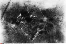 Aerial photograph, Fort Douaumont, France, WW1