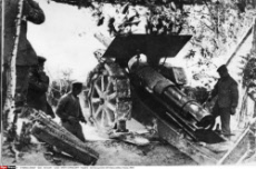 German gunners with heavy artillery, France, WW1