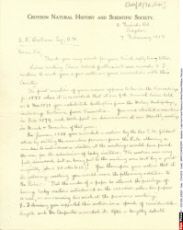Letter from Frank Roberts to Alfred Russel Wallace, February