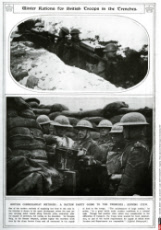 Winter rations for British troops in the trenches 1917