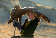 Mongolian Eagle Huntress