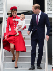 Wellington Duke and Duchess of Cambridge tour New Zealand with Prince George.