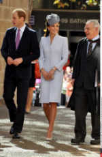 Prince William, Duke of Cambridge and Catherine, Duchess of Cambridge attend an Easter Sunday Church Service