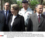 KARACHI: French Defence Minister Michele Alliot-Marie in Pakistan