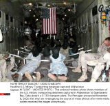 U.S. Military Transporting detainees captured Afghanistan