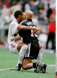 WORLD CUP 1998:FRANCE:SOCCER,             THIERRY HENRY & FABIEN BARTEZ CELEBRATE