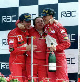 SILVERSTONE: VICTORY OF SHUMACHER AT THE GRAND PRIX.
