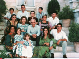 HISTORIC/ KING HUSSEIN OF JORDAN SURROUNDED BY HIS FAMILY. FROM LEFT TO RIGHT. FIRST