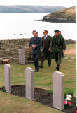 ARGENTINA:CEREMONY WITH PRINCE CHARLES AT THE MEMORIAL FOR BRITISH SOLDIERS KILLED D