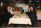 "PARIS:THE CLINTON'S & CHIRACS DINED THIS  EVENING AT THE ""CHEZ L'AMI LOUIS"",A RIGHT"