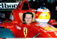 MICHAEL SCHUMACHER-TEST FOR THE G.P. ON   THE NURBURGRING