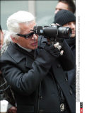 NY:Karl Lagerfeld shooting a new campaign in Soho