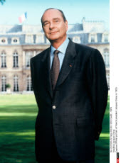 Official portrait of french president Jacques Chirac in 1995
