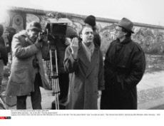 """West Germany : Set of the film """"The Sky above Berlin"""""""
