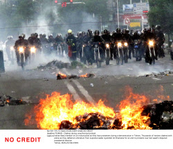 TEHRAN : Clashes during unauthorized protest