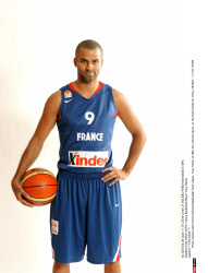 EXCLUSIVE-VICHY: France Basketball Player Tony Parker