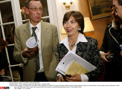 PARIS :  Press conference about the DNA traces - Gregrory Affair
