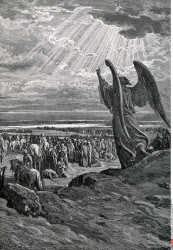 Angel Rebukes Israel Gustave Dore (1832-1883/French)