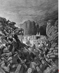 The Fall of the Walls of Jericho Gustave Dore (1832-1883 French)