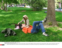 TEHRAN : Young couple in a park