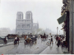 Paris Street by unknown French artist, USA, Pennsylvania, Philadelphia, David David Gallery