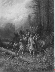 The Knights Progress, by Gustave Dore, from Idylls of the King, (1832-1883), USA, Illinois, Chicago, Newberry Library