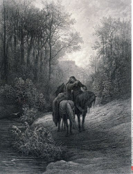 The Parting of Guinevere and Lancelot, by Gustave Dore, from Idylls of the King, (1832-1883), USA, Illinois, Chicago, Newberry Library