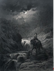 The Moonlight Ride, by Gustave Dore, from Idylls of the King, (1832-1883), USA, Illinois, Chicago, Newberry Library