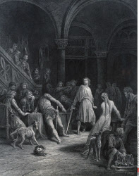 Geraint Slays Earl Doorm, by Gustave Dore, from Idylls of the King, (1832-1883), USA, Illinois, Chicago, Newberry Library