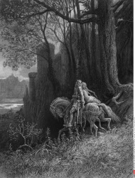 Geraint and Enid Ride Away, by Gustave Dore, from Idylls of the King, (1832-1883), USA, Illinois, Chicago, Newberry Library