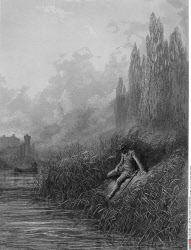 The Remorse of Lancelot, by Gustave Dore, from Idylls of the King, (1832-1883), USA, Illinois, Chicago, Newberry Library