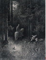 The Joyous Sprites, by Gustave Dore, from Idylls of the King, (1832-1883), USA, Illinois, Chicago, Newberry Library