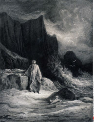 Finding of King Arthur, by Gustave Dore, from Idylls of the King, (1832-1883), USA, Illinois, Chicago, Newberry Library