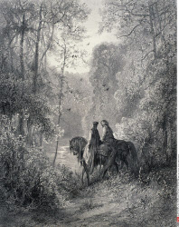 The Dawn of Love, by Gustave Dore, from Idylls of the King, (1832-1883), USA, Illinois, Chicago, Newberry Library