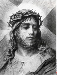 Crown of Thorns, Gustave Dore (1832-1883 French), engraving, (1832-1883)