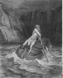 Engraving by Gustave Dore 1832 1883 French artist and illustrator for Inferno by Dante Alighieri Canto III lines 76 to 78