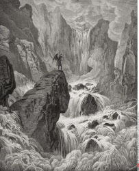Illustration by Gustave Dore 1832 1883 French artist and illustrator for Paradise Lost by John Milton Book IX lines 74 and 75