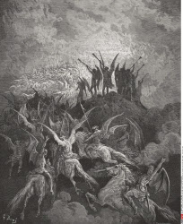 Illustration by Gustave Dore 1832 1883 French artist and illustrator for Paradise Lost by John Milton Book I lines 757 to 759