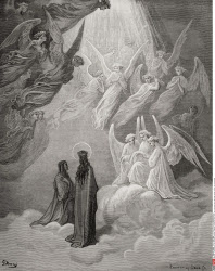 Illustration for Paradiso by Dante Alighieri Canto XX lines 10 to 12 by Gustave Dore 1832 1883 French artist and illustrator