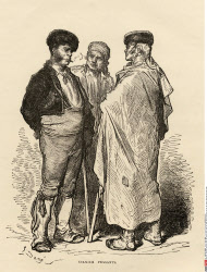 Spanish peasants Drawn by Gustave Dore From the book Spanish Pictures by the Rev Samuel Manning published 1870