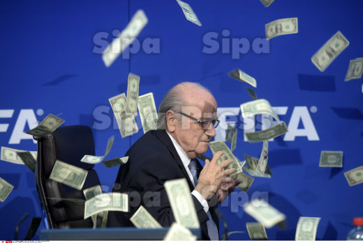 APTOPIX Switzerland FIFA Blatter Protest