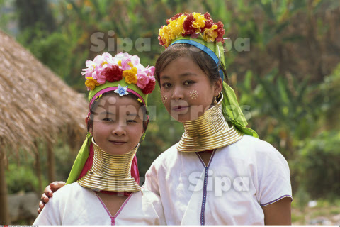 Thailand, Chiang Rai, Long Neck Hilltribes, Young Woman, Girl