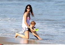Selma Blair and son